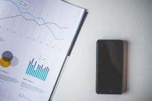 סמארטפון וגרף נתונים אנליטיים